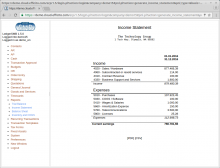 Income statement - report